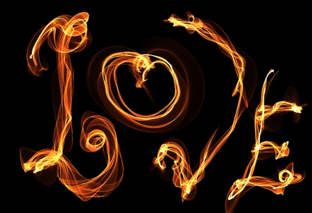 love fire illustration