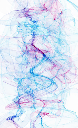 Wallpaper abstract colorful smoke of ink in water illustration Banque d'images