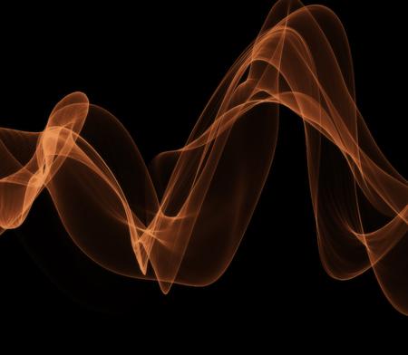 Blue smoke on black illustration Reklamní fotografie