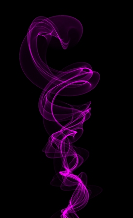 Pink violet smoke on black