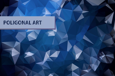 Abstract triangular blue background with polygonal abstract shapes.