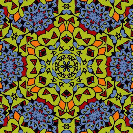 Arabesque seamless pattern. Background vintage stylized  flower. Texture royal vector. Fabric illustration.