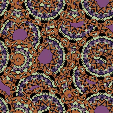 Abstract mandala kaleidoscope symmetrical colorful decoration vector wallpaper. Unusual motif.