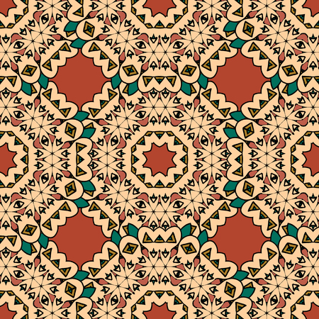 Decorative seamless ethnic pattern. Endless japan style wallpaper.