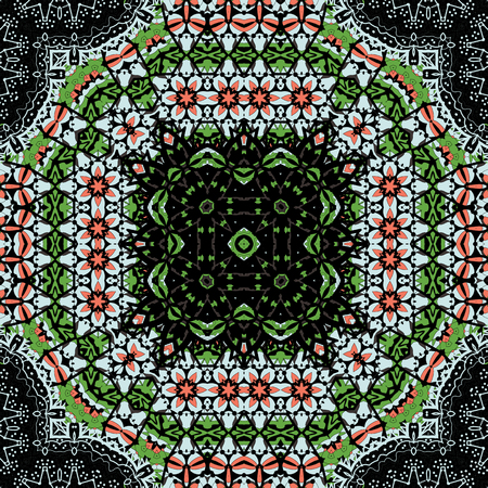 Arabesque seamless pattern. Background vintage flower. Texture royal vector. Fabric illustration.
