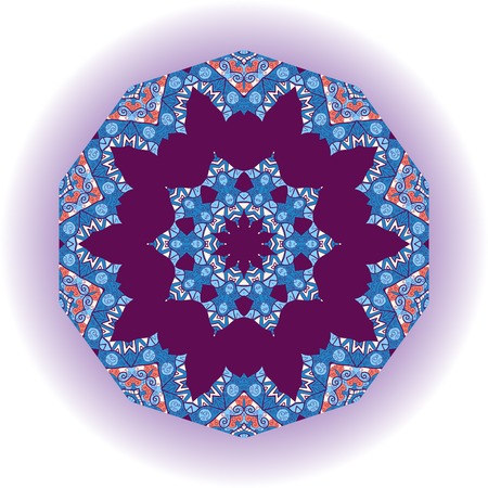 Mandala tribal design. Ethnic ornament. Template for menu, greeting card, invitation or cover