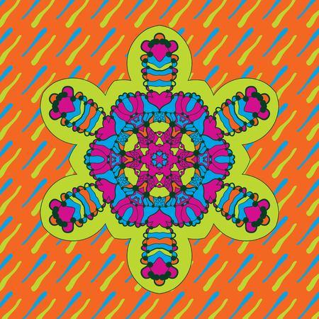 Icon Childish geometric symmetri design of neon bright color