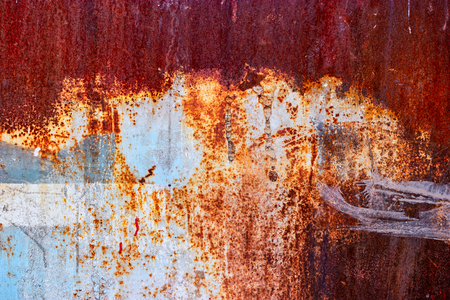 Adandoned plant fence - half painted rusty sheet, ready to be frame for your design