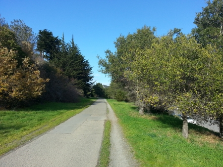 mill valley: Mill Valley bike path nice angle  Stock Photo