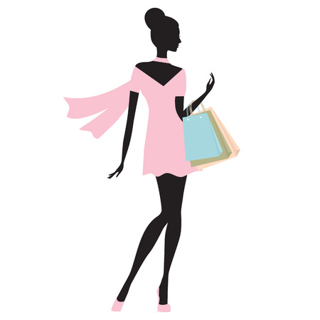 fashion woman shopping vector illustration