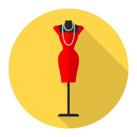 Fashion mannequin vector flat icon. Tailor mannequin.