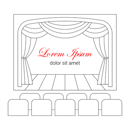classical theater: Theater or cinema logo template. Illustration