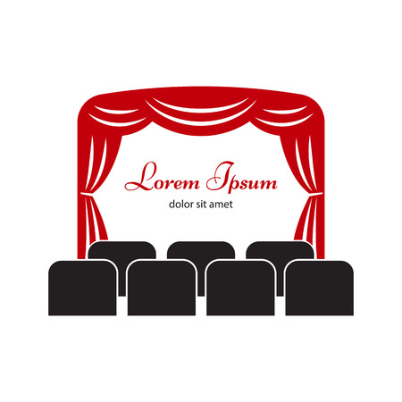 spectacle frame: Theater or cinema  label or badge template.