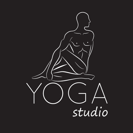 yoga meditation: Logo for yoga studio meditation. Illustration