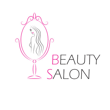 glamour makeup: Vector logo template for beauty salon.