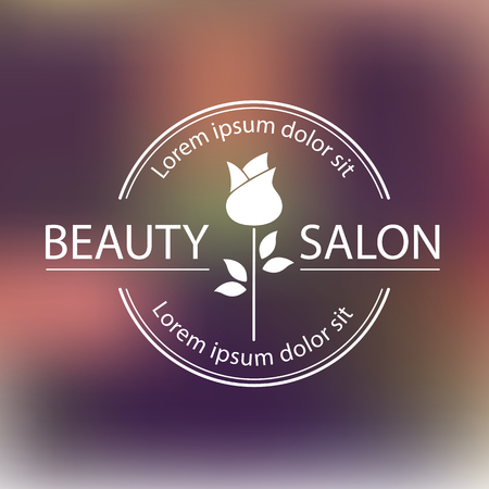 Vector logo template, label or badge for beauty salon ,cosmetic center. Illustration