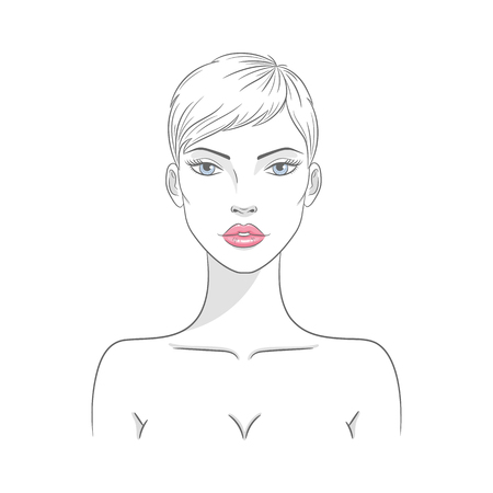 Vector illustration of a beautiful nude woman
