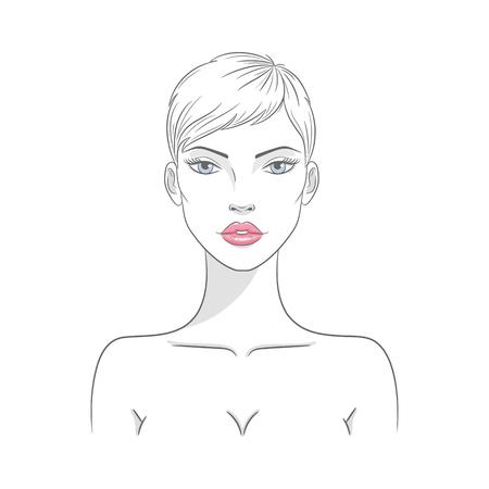 Vector illustration of a beautiful nude woman 版權商用圖片 - 120653220