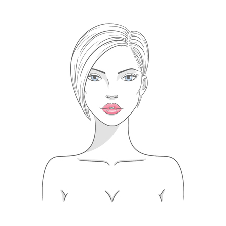 Vector illustration of a beautiful fashion woman