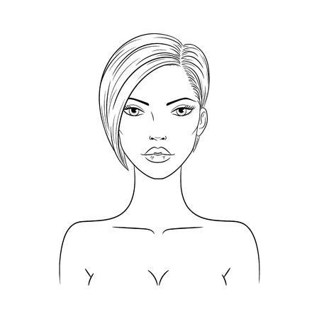 Vector illustration of a beautiful fashion woman 版權商用圖片 - 120653228