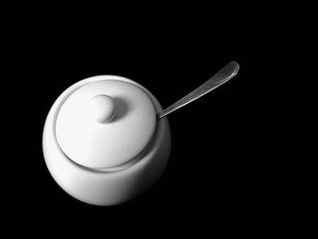 delftware: ciotola di zucchero con un coperchio