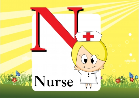 baby: Alphabet N Illustration