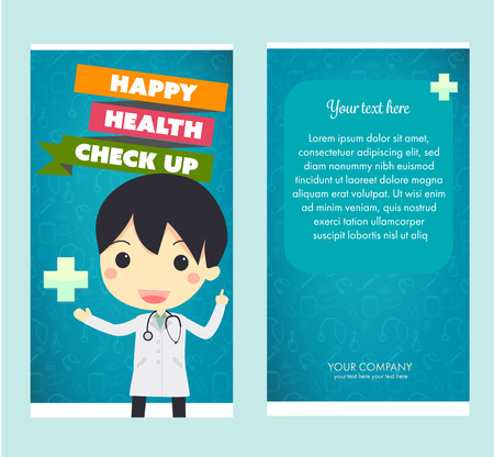 health check: health check up brochure.vector