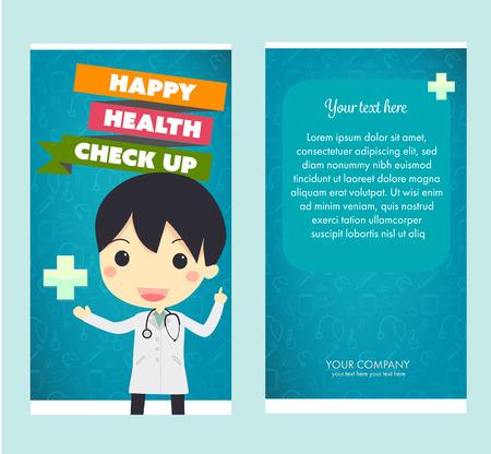 health check: health check up brochure.vector