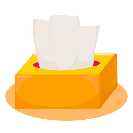 Cute yellow and orange tissue box.vector