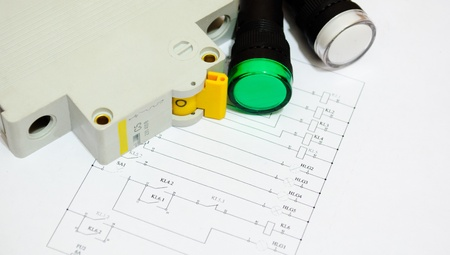 Electrical fuse led indicators on the electrical wiring diagram electrical fuse led indicators on the electrical wiring diagram lighting stock photo 12926456 swarovskicordoba Image collections