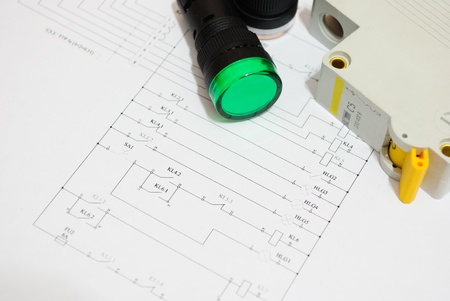 Electrical fuse led indicators on the electrical wiring diagram electrical fuse led indicators on the electrical wiring diagram lighting stock photo 12926466 swarovskicordoba Image collections