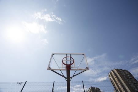 Plexiglass street basketball board with hoop without net in Novi Sad