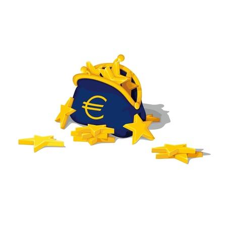 euro purse money Stock Vector - 15840886