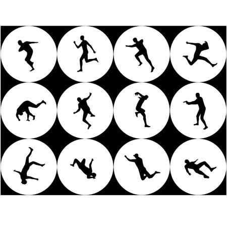 Silhouettes - extreme, movement Фото со стока - 15840888