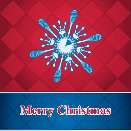 Abstract snowflake of kitchen utensils Stock Vector - 16112443