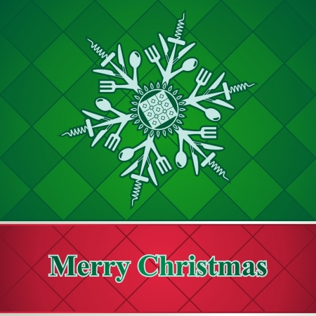 Abstract snowflake of kitchen utensils Stock Vector - 16112448