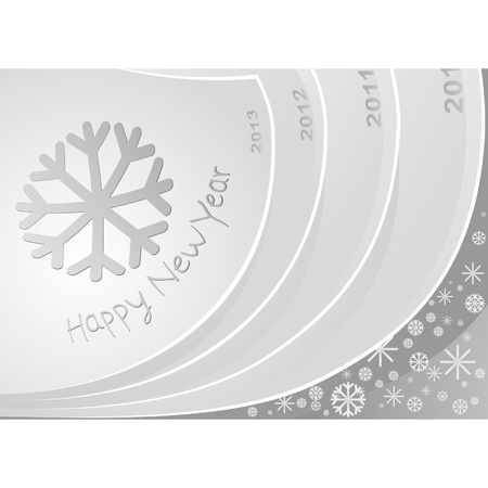 Image of calendar pages to previous years and the new 2013. New Year just around the corner Vector