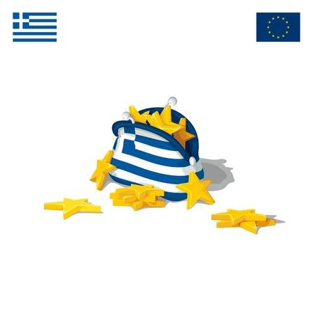 crisis economica: La crisis econ�mica en Grecia Vectores
