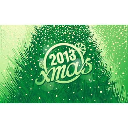 New Year holiday inscription xmas in retro style Stock Vector - 16373881