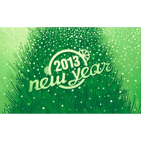 New Year holiday inscription retro style Stock Vector - 16373879