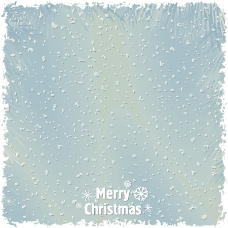 Just realistic beautiful snow on a blue background with text Stock Vector - 16373877