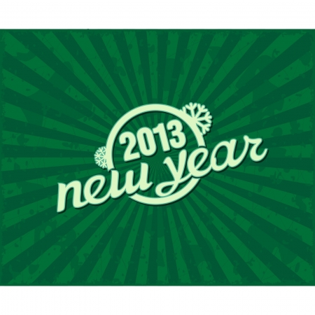 Holiday retro text  new year  on grunge background
