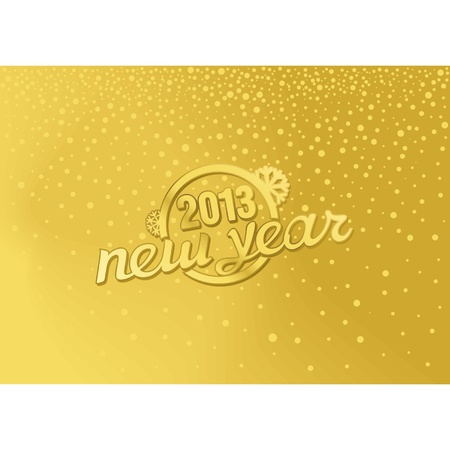 Gold New Year in a retro style Stock Vector - 16818739