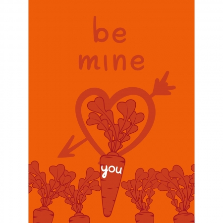 Be mine valentine with a carrots love Stock Vector - 17600887