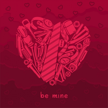 Valentine card for manly men Vector