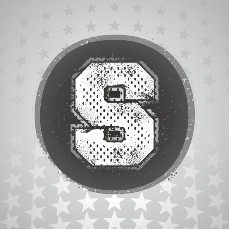 The letter  S  sport style