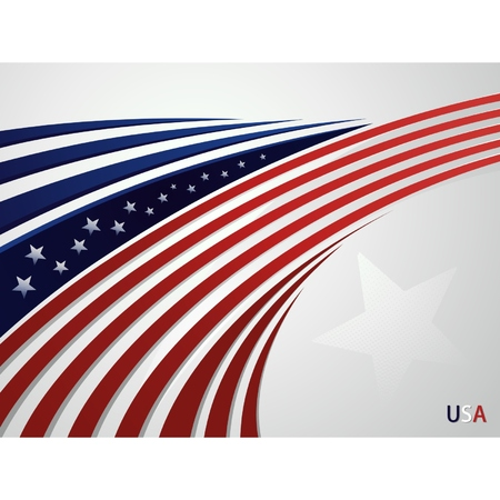 Stylized background USA patriotic design with lines Vector