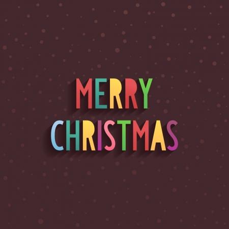 pastel colours: Simple fiesta Feliz Navidad del texto en el centro de varios colores pastel con efecto volumen y la sombra Vectores