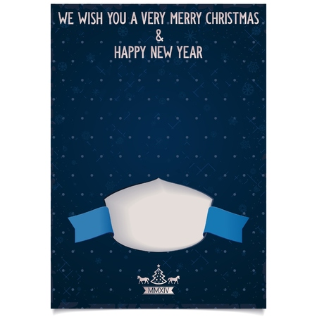 Template New Year greeting card with wishes and Place for your signature logo on vintage background  vector eps8 Vector