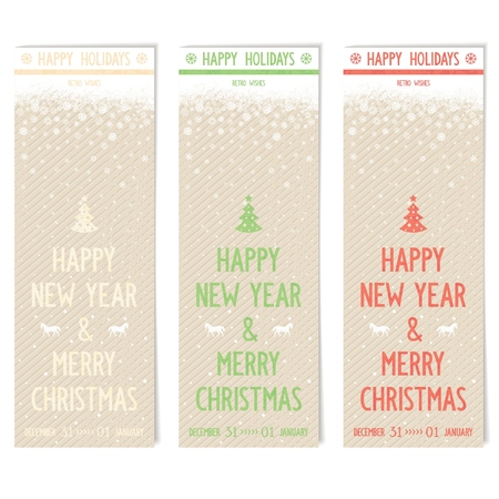 three wishes: Three template flyers for your new year wishes on vintage grange shabby paper with  pattern